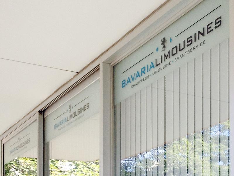 Referenz von su-pr-design: Bavaria Limousines – Schaufensterbeschriftung