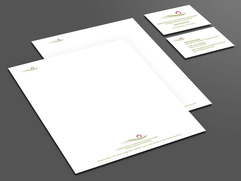 Gestaltung Geschäftspapiere Osteopathie Mainzcity – Referenz von su-pr-design