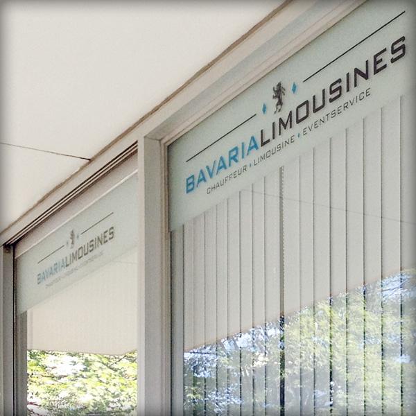 Referenz von su-pr-design: Bavaria Limousines – Fensterbeschriftung