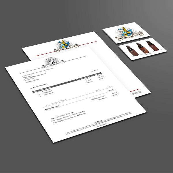 Gestaltung Geschäftspapiere, Erstellung digitale Rechnungsvorlage für Bierholster – Referenz von su-pr-design