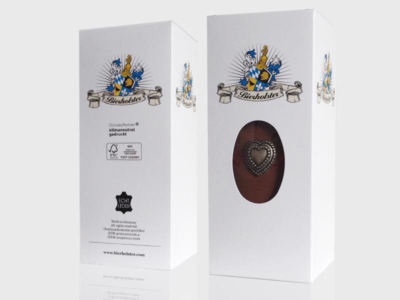 Packaging Design München, Gestaltung und Produktion von Verpackung, Schachtel für Bierholster – Referenz von su-pr-design