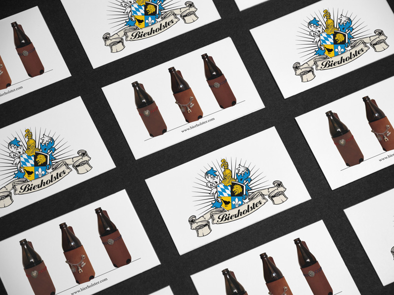 Gestaltung Flyer und Druck Flyer für Bierholster – Referenz von su-pr-design