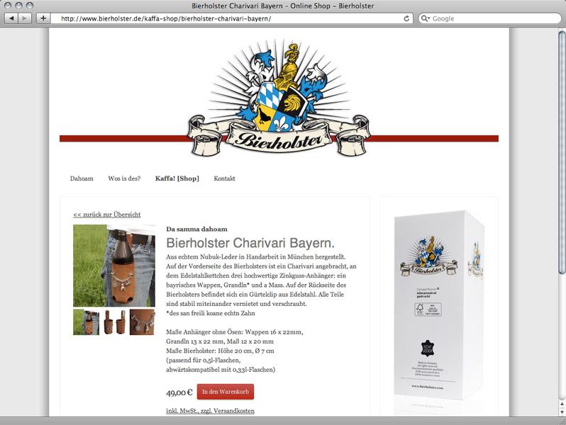 Responsive Webdesign, Gestaltung und Umsetzung Online-Shop für Bierholster – Referenz von su-pr-design
