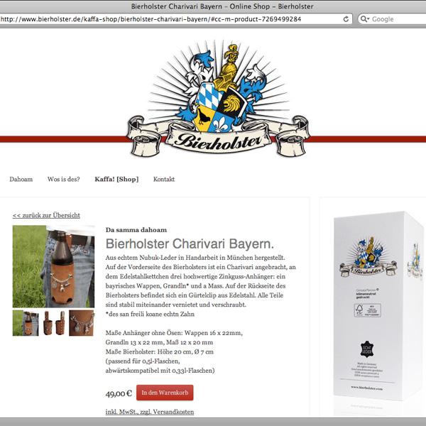 Referenz von su-pr-design: Bierholster – Webdesign, Gestaltung und Umsetzung responsive Online-Shop