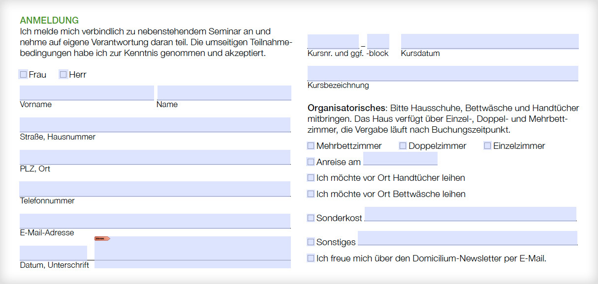 Referenz von su-pr-design: Domicilium – Erstellung digital beschreibbares pdf-Anmeldeformular
