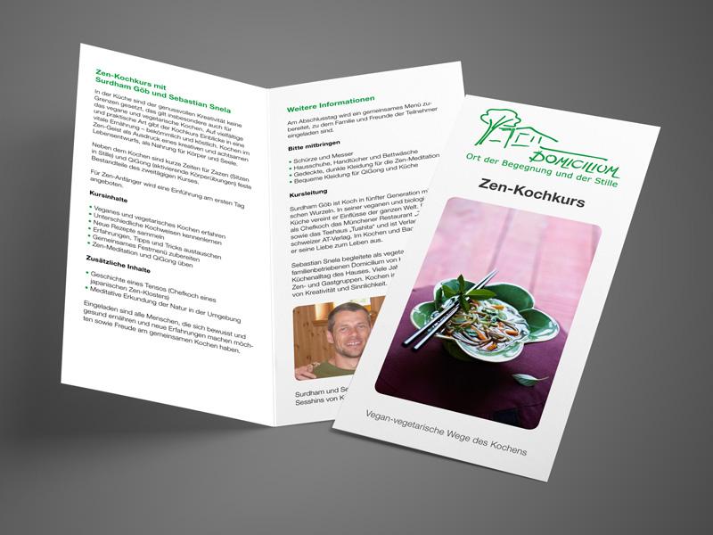 Referenz von su-pr-design: Domicilium – Gestaltung und Satz von Veranstaltungsflyern und -foldern