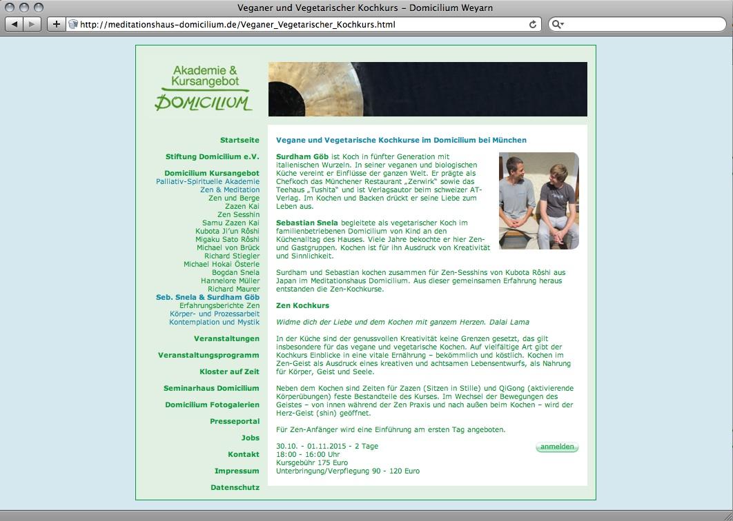 Webdesign München für Domicilium Weyarn