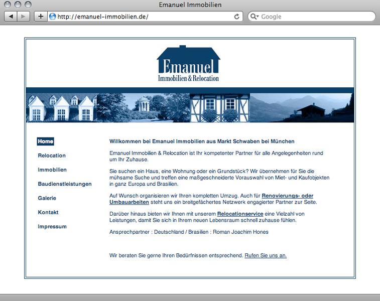 Webdesign München Emanuel Immobilien – Referenz von su-pr-design