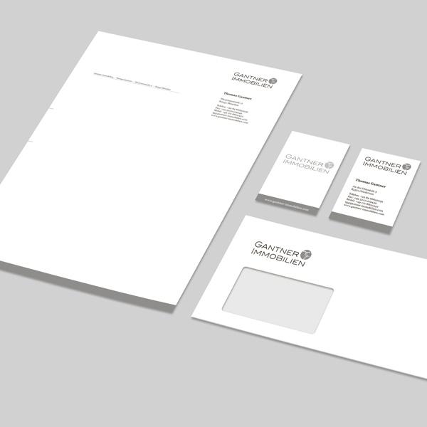 Corporate Design München, Gestaltung Geschäftsausstattung für Gantner Immobilien – Referenz von su-pr-design