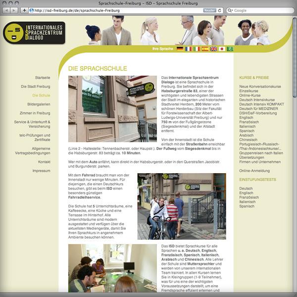 Referenz von su-pr-design: Webdesign Sprachschule mehrsprachige Website