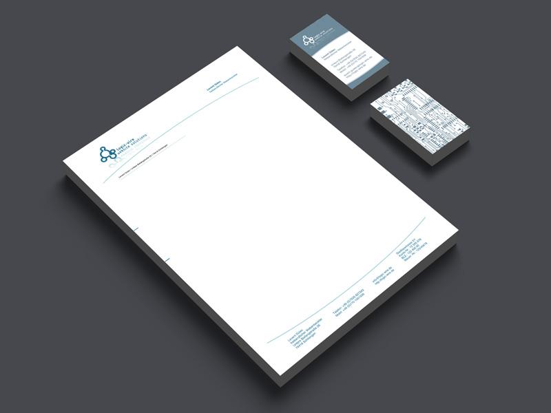 Gestaltung und Druck von Briefpapier und Visitenkarten für logic-wire webdesign freelancer – Referenz von su-pr-design