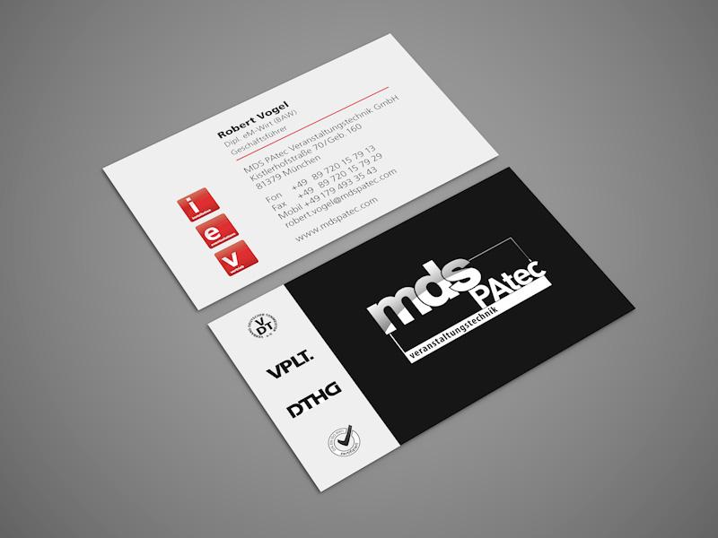 Referenz von su-pr-design: MDS PAtec – Gestaltung von Visitenkarten