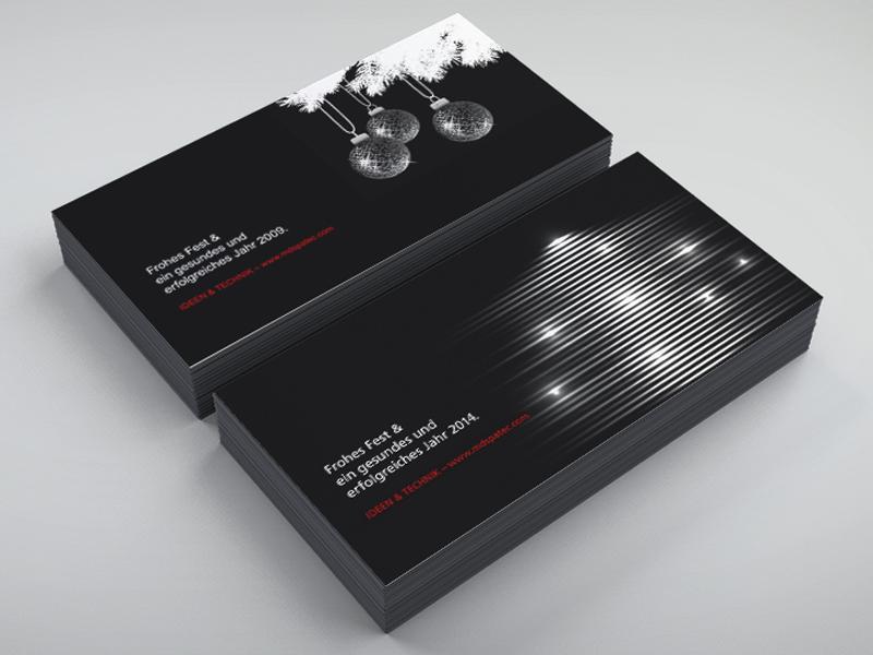 Gestaltung Weihnachtskarten für MDS PAtec Veranstaltungstechnik – Referenz von su-pr-design
