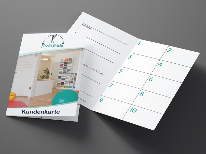 Gestaltung und Druck von Kundenkarten für Physiotherapie Praxis Physio Reiche – Referenz von su-pr-design
