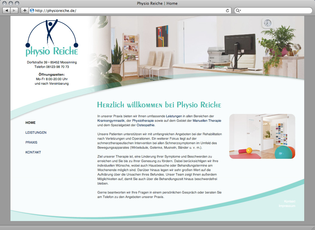 Webdesign Physiotherapie Praxis Physio Reiche – Referenz von su-pr-design