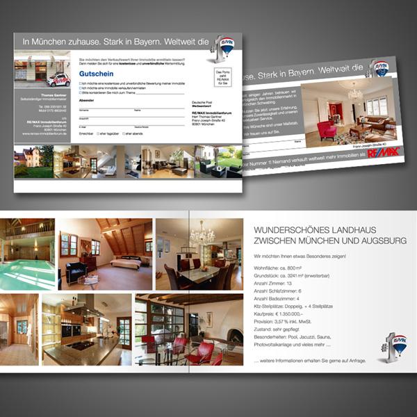 Referenz von su-pr-design: Remax – Gestaltung von Flyern, Foldern und Exposés
