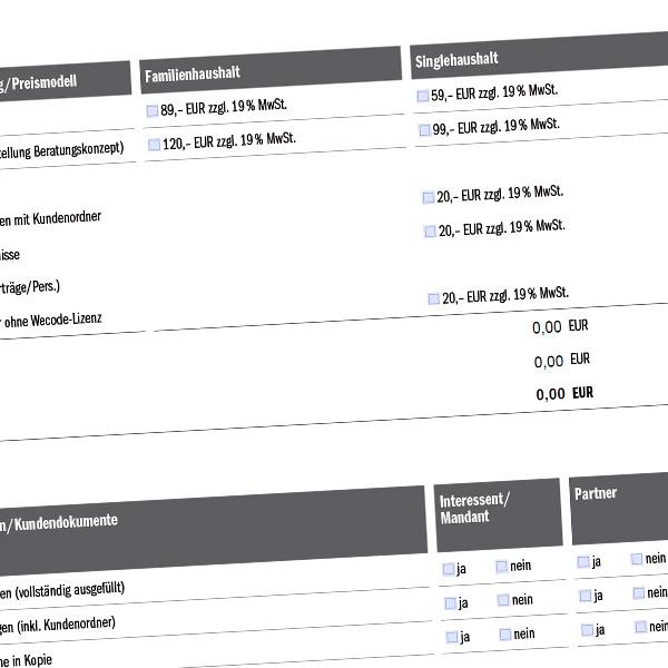 Erstellung digital beschreibbares dynamisches Formular pdf
