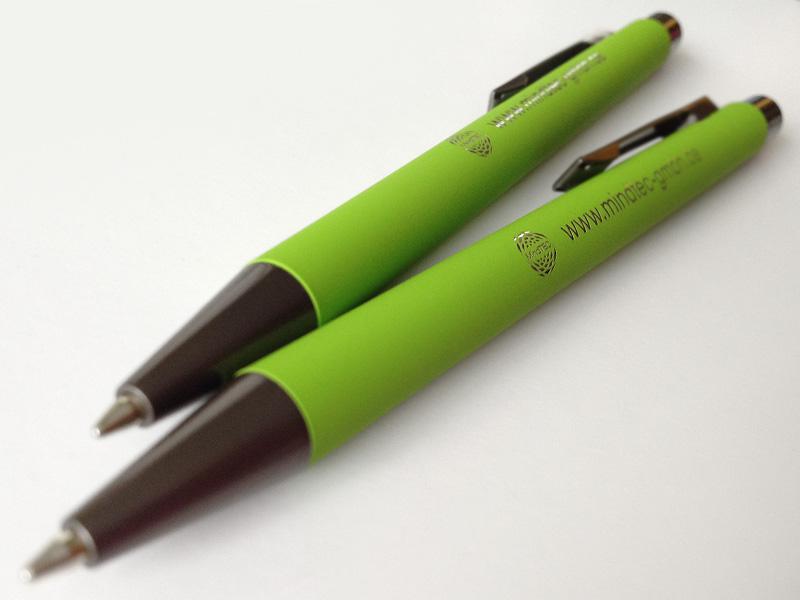 Werbemittel Kugelschreiber mit Lasergravur